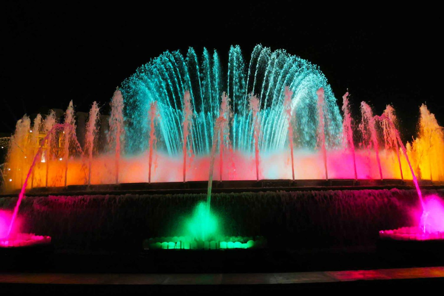 magic fountain in Bracelona, Spain