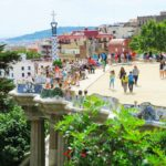 park guell, gaudi architecture in Barcelona, Spain