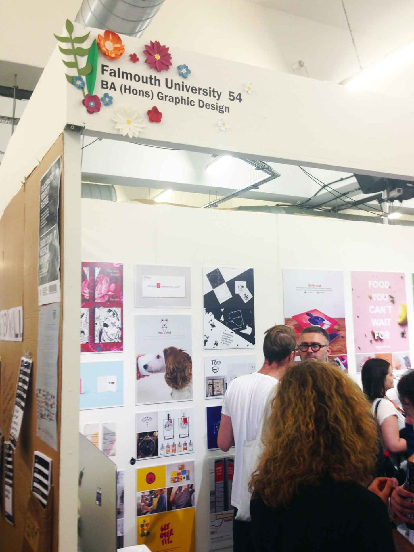 Falmouth University graphic design stand at D&AD New Blood festival 2017