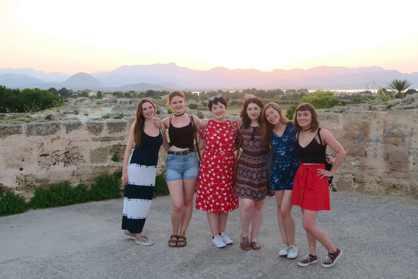 melissa carne's friends on holiday in Alcudia, Mallorca