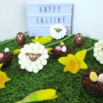 easter treats baking sheep, nests, chick