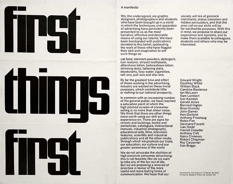 first the things first manifesto