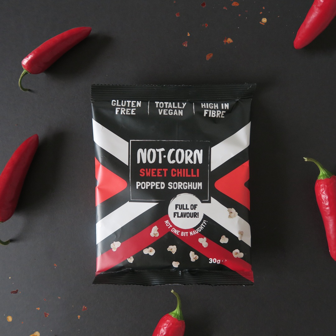 not.corn sweet chilli packaging