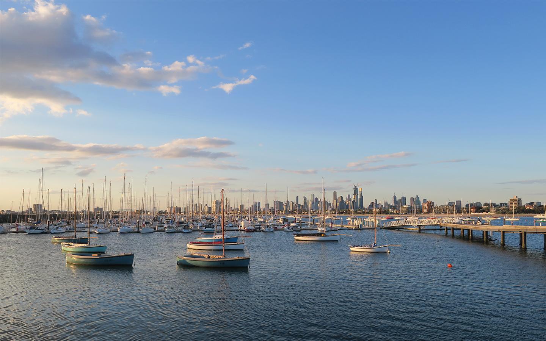 st kilda harbour in melbourne in australia